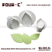 Rose Leaf Plunger Cutters , leaf pastry cutter fondant cake decorating plunger cutters,sugarcraft cutters