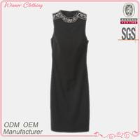 Freshly simple fashion long black tube prom dress