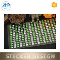 2015 fashion decorative crystal rhinestone sheet sticker