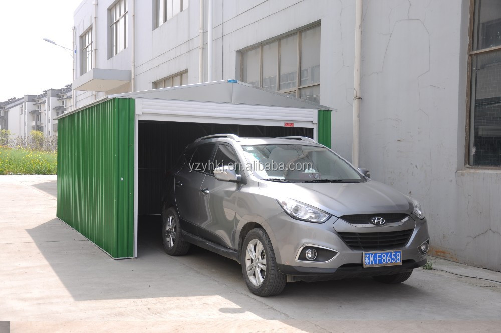 Economical metal roof 2015 low cost steel garage with for Low cost garage