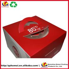 paper cardboard birthday cake box with handle