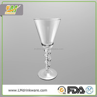 2015 New products durable mini champagne plastic customized crystal wine glass