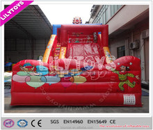 High quality small indoor red color inflatable slide jumping slide for kids