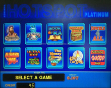 2015 new Coolair hotspot platinum slot game board