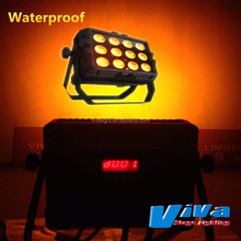 5 colors changeable 12x15w waterproof IP65 RGBWA 5 in 1 led par 64