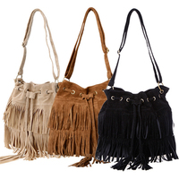 Women Bag Faux Suede Fringe Tassel Shoulder Bag Womens Handbags Messenger Bag