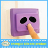 Smiling Panda Pattern Silicone Light Switch Covers Protector Decoration for Home