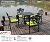 All weather rust free cast aluminum garden table and chairs.