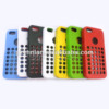 For iphone 5 polka dot hole metal phone case with silicone cover, many colors