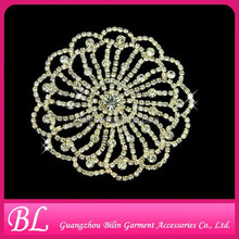 Sew On Applique Trim Flower Rhinestone Crystal Glass Wedding Bridal Dress Craft