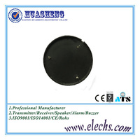 44mm black round piezo electric buzzer