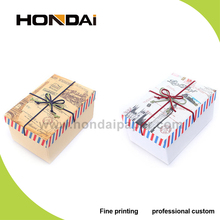 Manufacturer wholesale luxury classical recycled kraft paper gift box