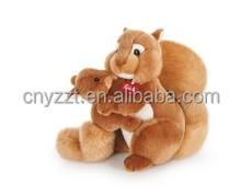 stuffed squirrel plush toy/family squirrel stuffed toy