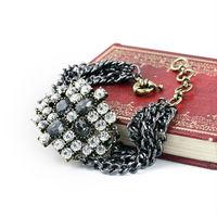 2015 Top Rock New Hot Sale Women Chunky Crystal Multichain Bracelet