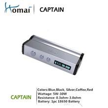 Huge stock! 2015 Captain Mini 30w & 50w Vapor Mod be end year promotion E Cigarette 18650 Mechanical Mod Box Mod