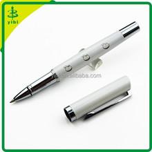 BER-D701 Logo engraving custom logo White metal ballpoint pen