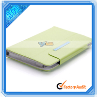 """Stylish Single-Push Litchi Pattern Clip-on PU Leather kids tablet case with handle for 7.85"""" Tablet PC Green"""