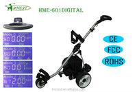 3 Wheels Aluminium LCD Electric single Golf Cart Golf Trolley Golf Buggy HME-601Digital