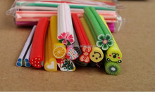Nail Art 3D Fruit/Flowers/Heart Fimo Rods Canes Polymer Clay DIY Decoration Nail Beauty