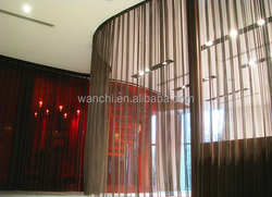 China cheap stainless steel decorative metal curtain wire mesh/Metal drapery