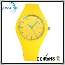 Quartz yellow women men unisex size ce rohs passed watch silicone