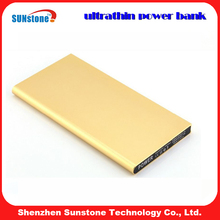 Promotional slim portable power bank, credit card with your logo print with 6000mah 8000mah choice