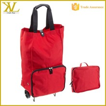 Collapsible wheeled trolley shopping cart bag, waterproof shopping foldable trolley bag