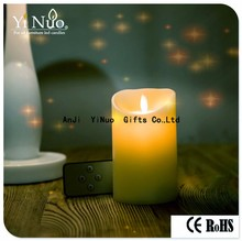 Moving Flame Outdoor Ivory Resin Battery Operated Candle 3.5 x 7 as window candle lights