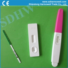 One step home rapid HCG strip pregnancy test device
