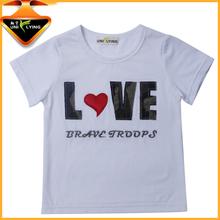 Children's clothing OEM Ring-Spun Cotton tee shirt