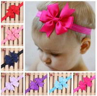 2015 New Christmas Gifts Baby Bow Headband