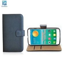 For Alcatel One Touch Flash OT-6042D Book Style Side Flip Leather Wallet Case