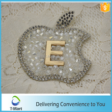 apple design of hot fix rhinestone sheet for bags, shoes decoration
