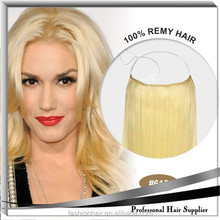 YILU Wholesale human hair blonde fish wire hair