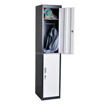 Two Door Steel Master Disassembled Strong Lockers/metal storage locker wardrobe for hanging clothes