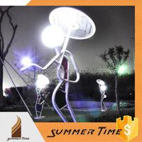 Lighting human sculpture for road