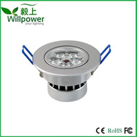 Dimmable 220V 5W LED Ceiling Light Downlight , Warm White Spotlight Lamp Recessed Lighting Fixture , Halogen Bulb Replacement