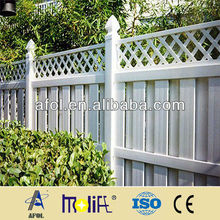 PVC Profile Semi-Privacy Fence With Quality PVC Fence slats