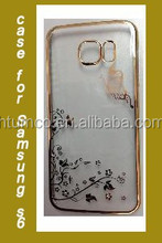 High Quality transparent case,colored case,PC Case with Electroplating and Laser Pattern for Samsung S6