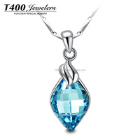 T400 Fashion Bule Necklace Crystal From Swarovski jewelry