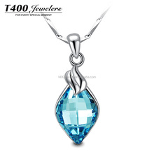 T400 Fashion Bule Necklace Crystal From Swarovski jewelry