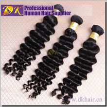 Best selling cheap wholesale top quality real tangle shedding free brazilian big curl human Hair Weave