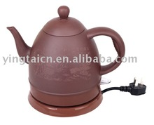 Red porcelain electric kettle