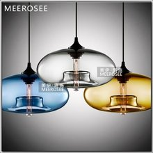 Colouful Modern Glass Pendant Lamp Voal Glass Hanging light MD3234R