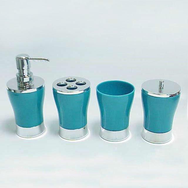 Classique design acrylique transparent en forme de vase for Set accessoires salle de bain design