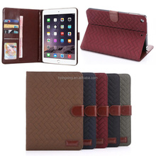 Made in china Retro Pattern wallet leather case for ipad mini