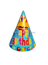 Bright Color Happy Birthday Paper Party Hat