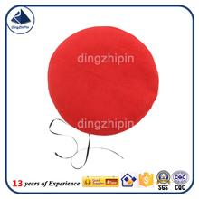 Fornecedores verificados in china personalizar boinas chapéu de feltro de lã cone Red