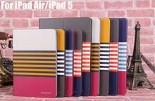 Custom Leather Slim Flip Cover Case For iPad Air , PU Leather Flip Case
