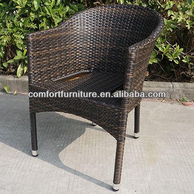 esterno sedia impilabile rattan con telaio in alluminio